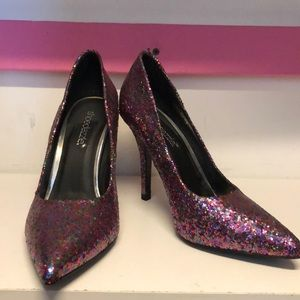 Multi-Colored Glitter Heels